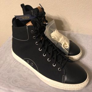 Polo, Dleaney Hightop, canvas and leather, black